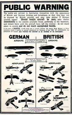 British and German Airships and Aeroplanes, Technical World Magazine, May 1915.