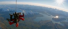 Sky dive ... this is over Lake Wanaka in New Zealand