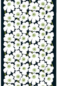 marimekko pieni unikko cotton fabric.  would make a gorgeous wall hanging in our bedroom!