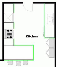 peninsula kitchen floor plan - Google Search