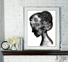 Art print from original watercolor fashion by JoDiquez on Etsy