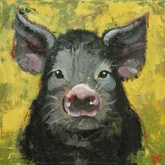 Black Pig Painting