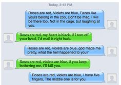 Roses are red, violets are blue poem comebacks. I love my friend. She's not afraid to say something mean....