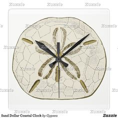 Sand Dollar Coastal Clock