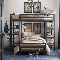 Industrial Style Teen Boy Room