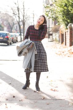 Wearing a J.O.A. dress (yes, it's a dress that I styled as a top!) and my favorite patterned midi skirt out on Lace and Combat Boots today. It's too beautiful of a day not to wear pieces that make you feel confident!
