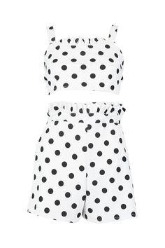 NEXT Navy Polka Dot 2 Piece Shorts Set NWT