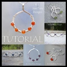 Wire Jewelry Tutorial - COILED JEWELS (3 Projects - Pendant, Earrings and Bangles) - Step by Step Wire Wrapping Wirework - Instant Download via Etsy