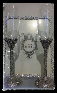 Perfect Wedding Champagne glasses..stunning! BOWRING High Street.,