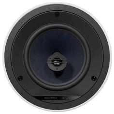 """Bowers & Wilkins - 8"""" 2-Way In-Ceiling Speakers (Pair) - White/Black"""