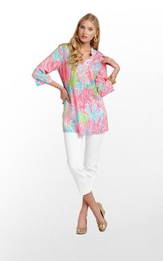 Lilly Pulitzer Summer '13-Sarasota Tunic in Turquoise Lets Cha Cha $148