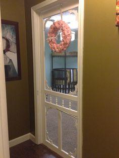 cute for front door & PIP of screen door on nursery | Nursery Doors and Babies