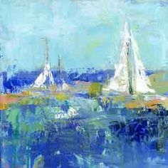 ArtWall Abstract Harbor 2 Anything Better by Pamela J. Wingard Painting Print on Wrapped Canvas Size: Abstract Canvas, Canvas Artwork, Canvas Wall Art, Canvas Prints, Painted Canvas, Wal Art, Painting Prints, Art Prints, Framed Prints