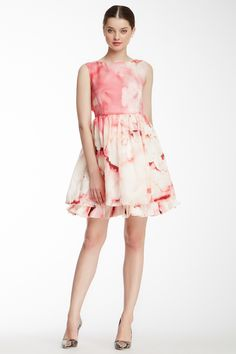 alice & olivia Catherine Gathered Skirt A-Line Silk Dress by alice + olivia on @nordstrom_rack