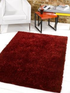 Best Buying Guide For Storm Titan Red Polyester Shaggy Rug With Review And Price
