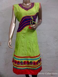 20% discount on Florescent Green with contrast border at Craftshopsindia.com