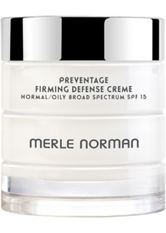 PREVENTAGE™ Firming Defense Creme Normal/Oily Broad Spectrum SPF 15  For Normal to Oily skin types.   A lightweight, non-greasy daytime moisturizer that helps firm skin. This multi-tasking cream also protects skin from environmental stressors with an anti-pollution complex and helps prevent the premature signs of aging with Vitamins C and E. Broad Spectrum SPF 15 helps prevent sunburn and decreases the risk of skin cancer and early signs of aging caused by the sun. Fragrance-free. Oil-free…