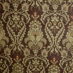 Delicious Victorian Chocolate Chenille Upholstery Fabric Imported from Italy
