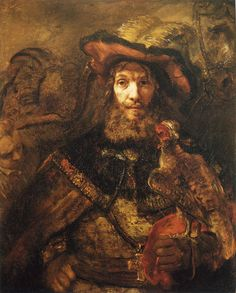 Rembrandt Man with a Falcon on his Wrist.