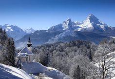 """http://www.berchtesgadener-land.com/de/watzmann/ König Watzmann im Winter  Gebirgslandschaft und wilde Natur  Das Berchtesgadener Land, das schon für Alexander von Humboldt zu den """"schönsten Fleckerln auf der Erde"""" gehörte, besticht durch Einzigartigkeit und Vielfalt."""