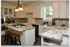 White cabinets, granite countertops, amazing