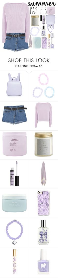 """Summer Pastels"" by icy-frappe ❤ liked on Polyvore featuring Steven Alan, Hot Topic, Topshop, Aveda, Illume, NYX, Casetify, Sydney Evan, Caswell-Massey and Tory Burch"