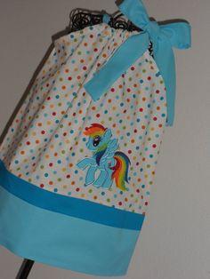 Rainbowdash My little pony Pillowcase Dress. $28.00, via Etsy.
