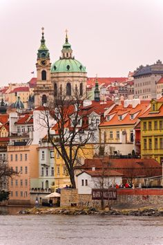 View on Lesser Town in #Prague with a beautiful baroque church - St. Nicholas Church by Tambako the Jaguar #CzechPragueOut