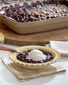Blueberry Crisp - Martha Stwart Recipe