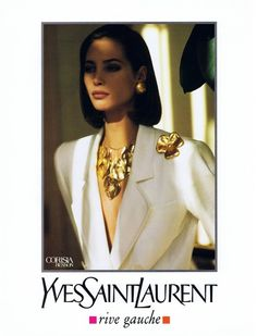 ysl ad 1990 feat christy turlington