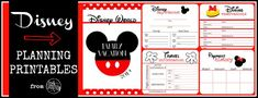 Disney Planning Printables- Free! - Lovely Commotion