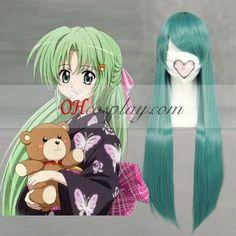 Higurashi no naku koro ni Sonozaki Shiion Green Cosplay Wig