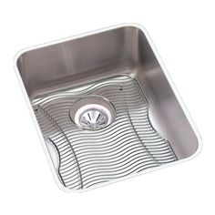 Elkay Lustertone Stainless Steel x x Single Bowl Undermount Sink Kit Steel Wool, Sink Drain, Wire Brushes, Stainless Steel Sinks, One Light, Kit, Bar Sinks, Showroom, Products