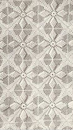 "Off white crocheted bedspread - the ""popcorn"" stitch. Crochet Bedspread Pattern, Crochet Cushions, Granny Square Crochet Pattern, Crochet Tablecloth, Crochet Squares, Crochet Blanket Patterns, Crochet Motif, Crochet Doilies, Crochet Lace"