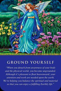 Angel Card - Good words - Ground yourself