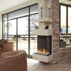 3 Sides Fireplace Mantel Egyptian Beige Polished | Fireplace ...