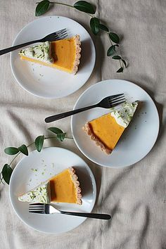 Mango Cream Tart with Coconut Crust | Oh Sweet Day!