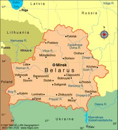 Belarus on the map of europe belarus means white russia over map of belarus languages belorussian white russian russian other sciox Images