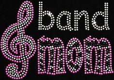Band Mom Rhinestone Transfer DIY   N18 by BlingMeBaby on Etsy, $12.99