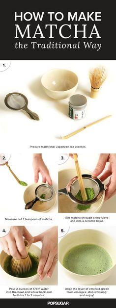 How to make matcha.