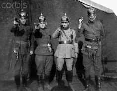 WWI officers with their weapons, ca. 1914.