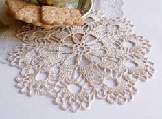 Hey, I found this really awesome Etsy listing at https://www.etsy.com/listing/164918398/small-cream-crochet-doily-hand-crocheted