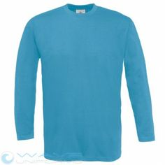B&C Mens Exact 150 long sleeve Tshirt from wave uniforms