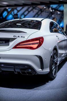 1cae807526b0 Badass White Mercedes AMG CLA 45 4 Matic High-end luxury sport cars