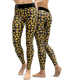 Custom Halloween Candy Corn Leggings   Womens Leggings   Capri Leggings   Yoga Pants   Tights   Stretch Pants   Gym Gear   Printed Leggings   CosPlay   Plus Size   XS-5X   Womens Activeware   Yoga Leggings   Festival Leggings   Workout Gear   Exercise Leggings   Ladies Leggings   Workout Leggings   Halloween   Candy Corn Made in the USA. -Custom Leggings designed, printed, cut and sewn to order in Phoenix, AZ -Great gift for her -82% Polyester / 18% Spandex blend. -4 way stretch which me...