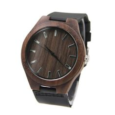 Men's Bamboo Wristwatch with Leather Band, Wooden watches, wooden watches for men, bamboo watches, bamboo watches men Simple Watches, Casual Watches, Men's Watches, Wooden Watches For Men, Dark Brown Leather, Walnut Wood, Wood Watch, Leather Men, Bracelet
