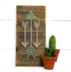 Mini Arrows String Art Sign Arrow Sign Arrows by Rustic Wall Decor, Diy Wall Decor, Diy Home Decor, Diy Wand, Wooden Diy, Wooden Signs, Cuadros Diy, Diy And Crafts, Arts And Crafts