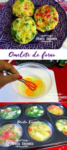 Omelete de forno, uma forma diferente e divertida de fazer omelete. Pronto em 15 minutos e vegetariano.