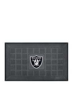 Fanmats  Nfl Oakland Raiders Medallion Door Mat - Black