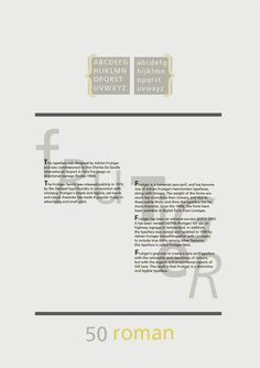 Study - Typography - Frutiger - Poster #2.1
